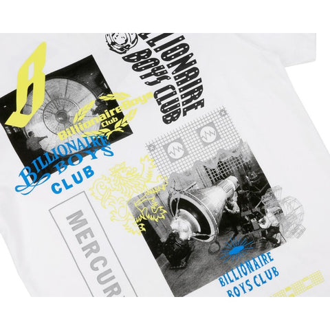 SPACE BEACH PHOTO PRINT TEE - WHITE