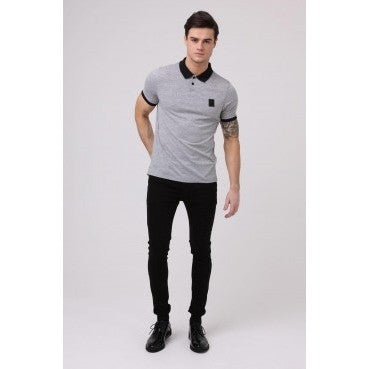 BADGE POLO - BLACK/GREY