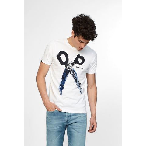 BLUE STEEL TEE - OPTIC WHITE