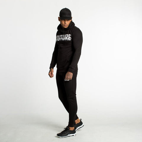FITTED FLEECE JOGGERS - BLACK