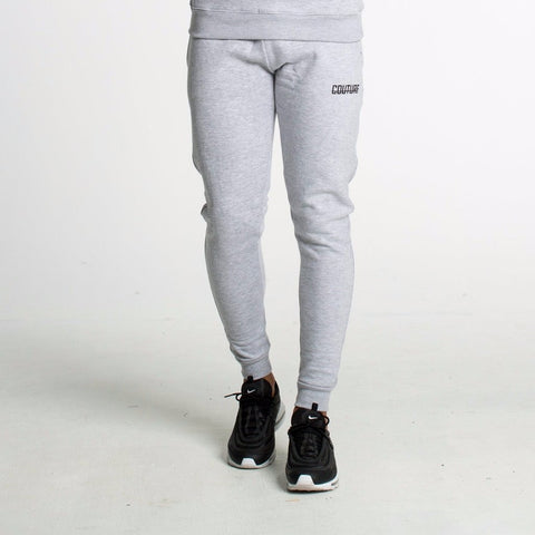 FITTED FLEECE JOGGERS - GREY
