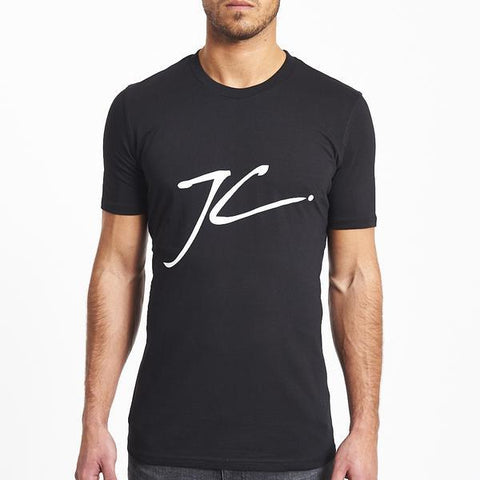 LARGE JC LOGO TEE - BLACK