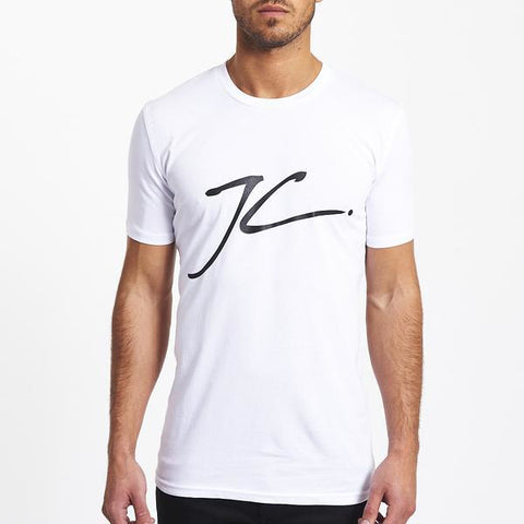 LARGE JC LOGO TEE - WHITE