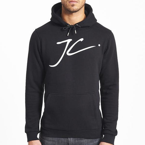 LARGE JC LOGO POP OVER HOOD - BLACK