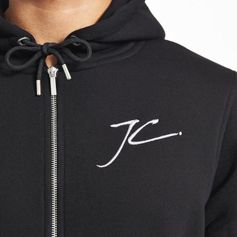 ZIP UP HOODIE - BLACK