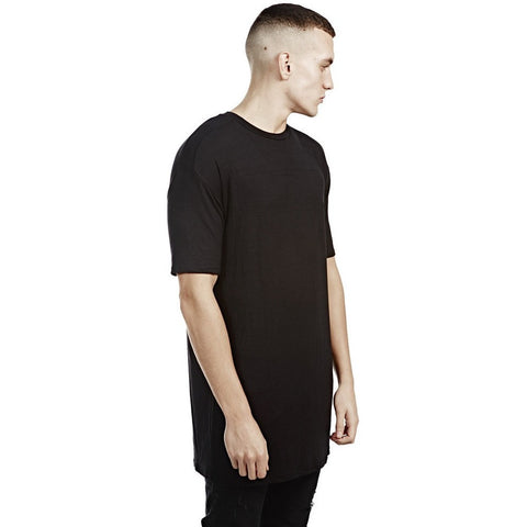 Long Line Short Sleeve Tee - Black