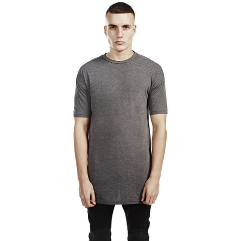 Long Line Short Sleeve Tee - Charcoal