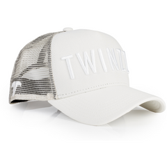 3D MESH TRUCKER IN STONE/WHITE