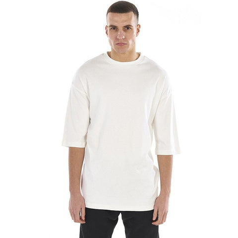 OVERSIZED 3/4 SLEEVE TEE - WHITE