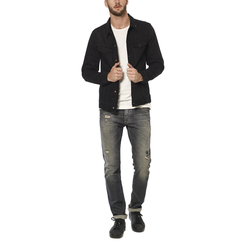 AMSTERDAM DENIM JACKET - BLACK