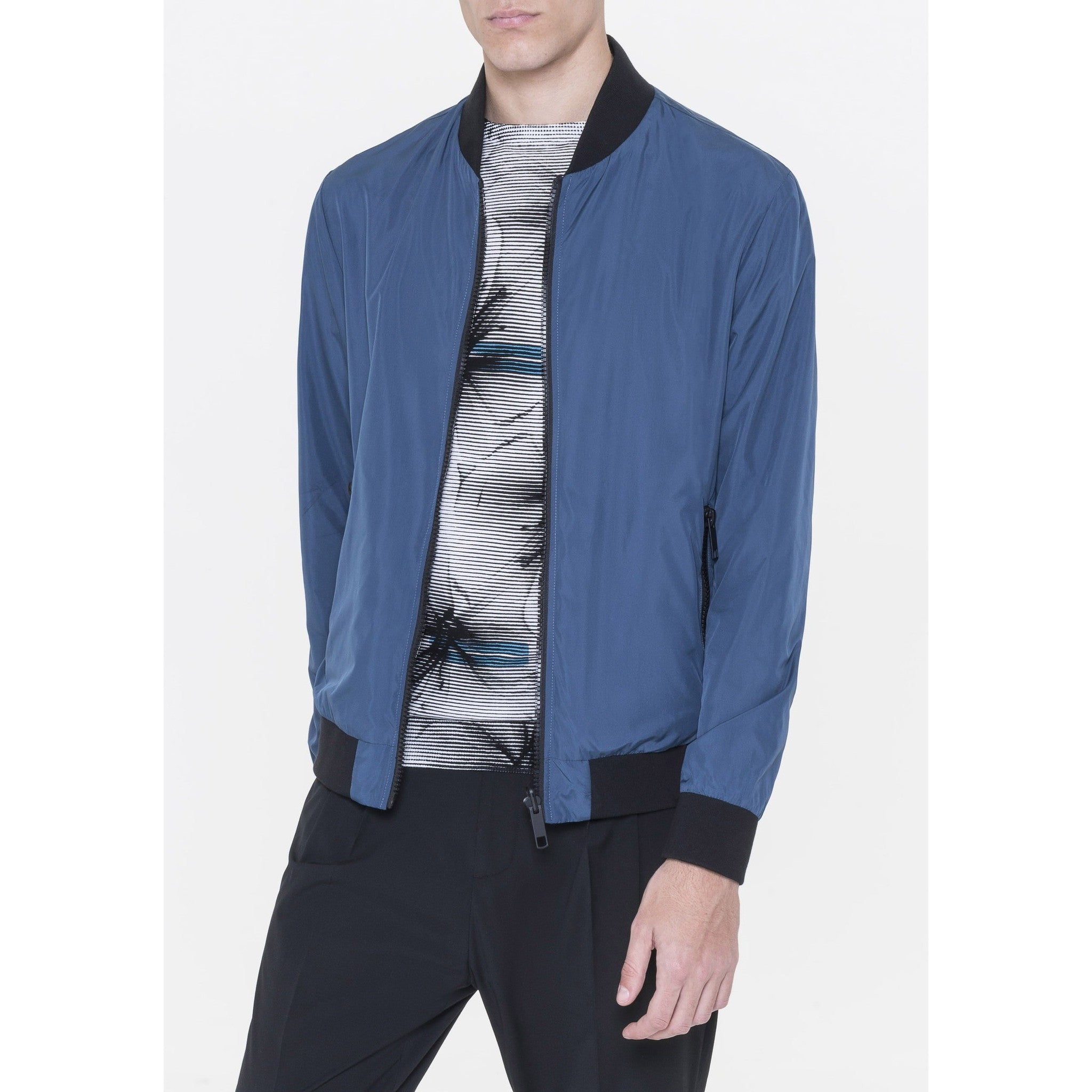 Reversible Bomber Jacket - Blue/Black