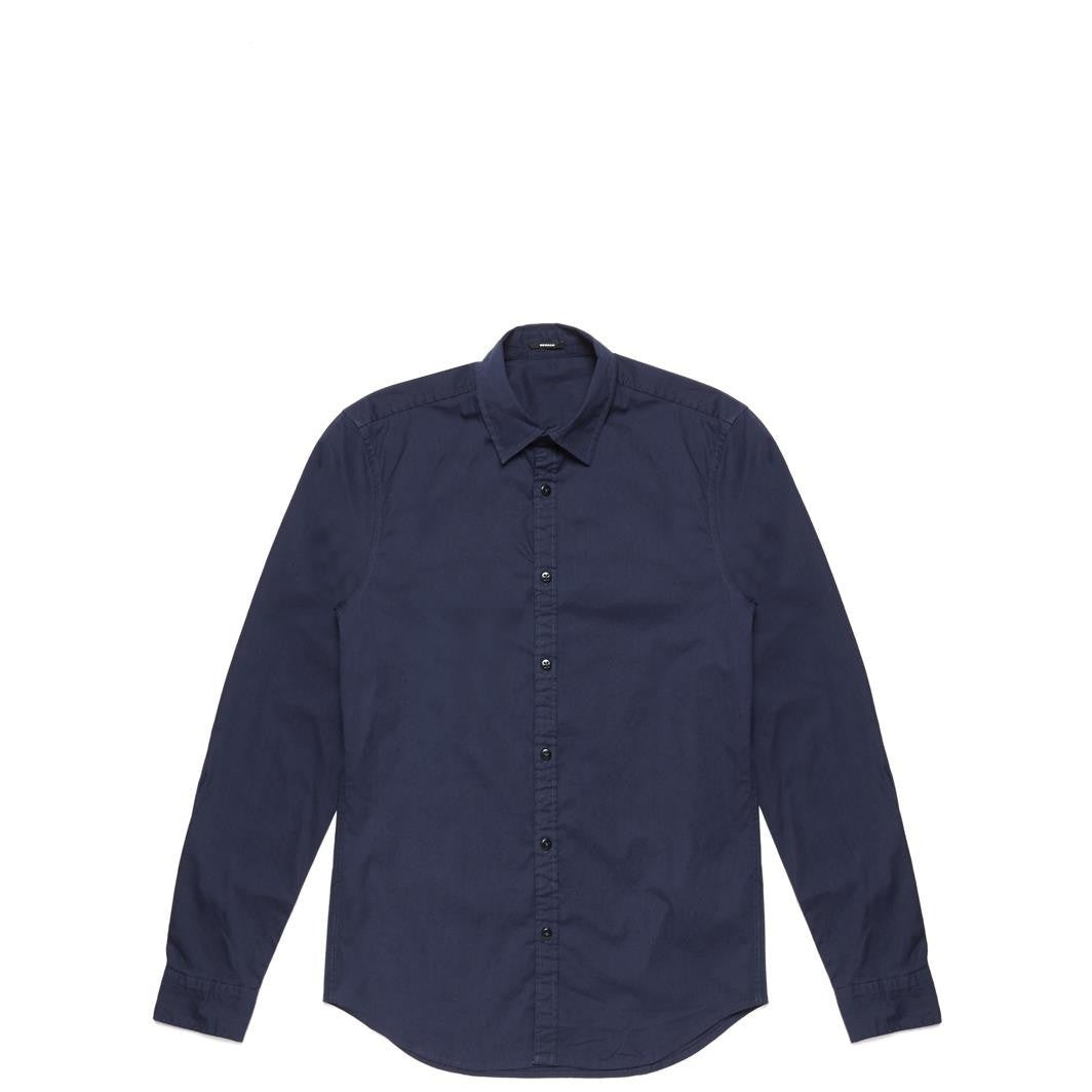 ELLIS LONG SLEEVE STRETCH SHIRT - NAVY