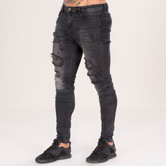 LUCA SKINNY JEANS - DISTRESSED BLACK