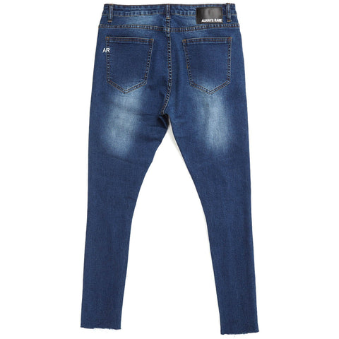 MICKEY SUPER SKINNY CUT OFF JEANS - INDIGO