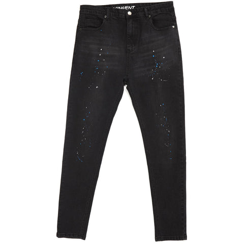 VINCENT CARROT FIT JEANS - BLACK PAINT