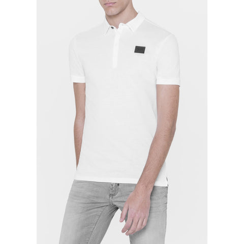 Plaque Logo Polo Shirt - White