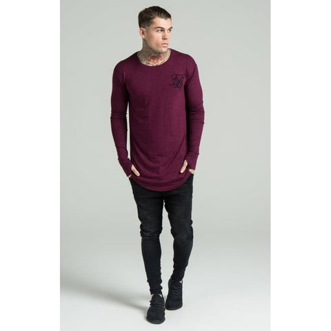 MARL LONG SLEEVE TEE - BURGUNDY