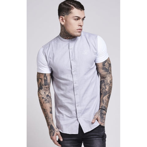 JERSEY SHORT SLEEVE SHIRT - LIGHT GREY