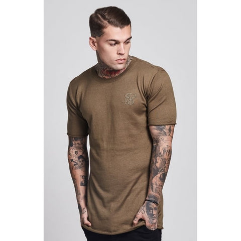 ROLL EDGE SHORT SLEEVE TEE - KHAKI