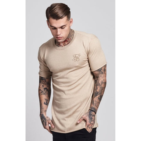 ROLL EDGE SHORT SLEEVE TEE - STONE