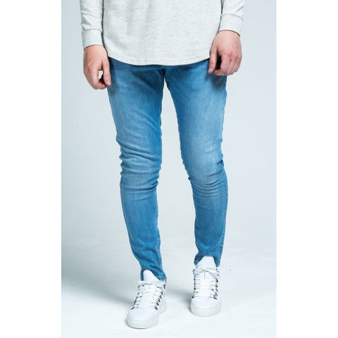 SKINNY LOW RISE JEANS - LIGHT BLUE