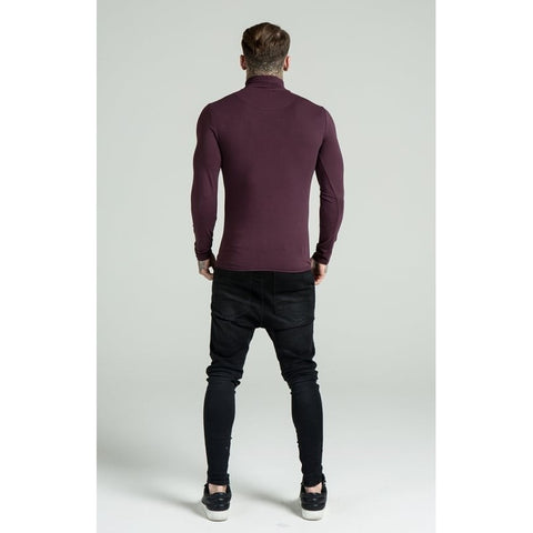 LONG SLEEVE TURTLE NECK - BURGUNDY