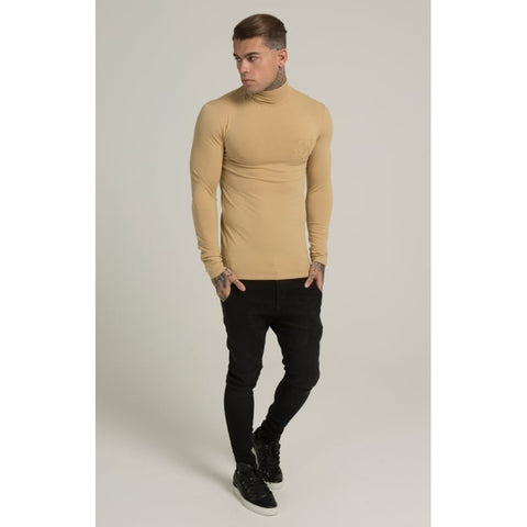 LONG SLEEVE TURTLE NECK - STONE