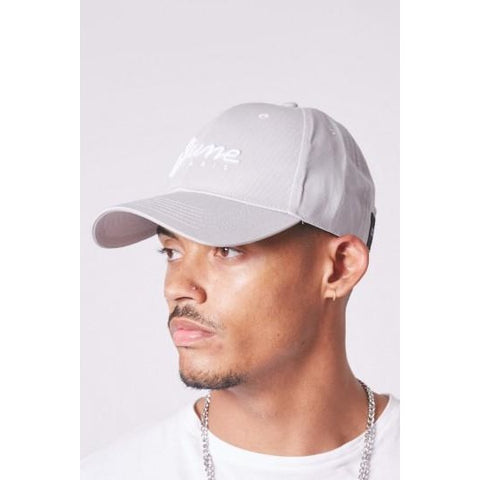 SJUNE EMBROIDERED SNAP BACK - LIGHT GREY