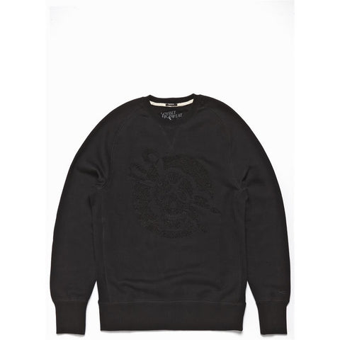 SKULL CAP GRAPHIC SWEAT - BLACK