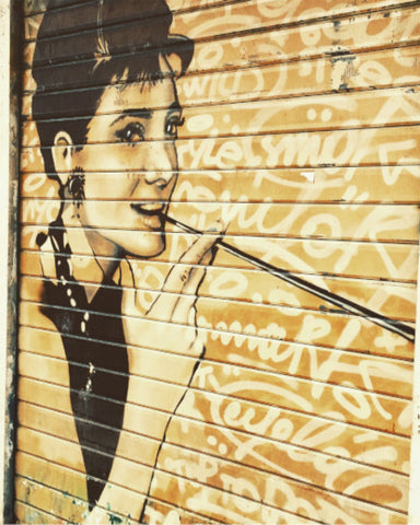 Audrey Hepburn in Verona Art Photo