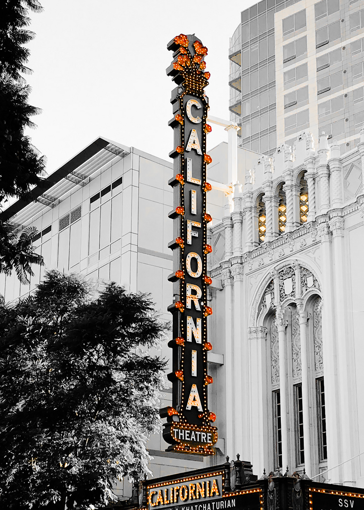 Historic California Theatre Sign