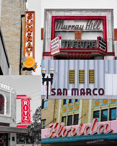 Historic Theatre Sign Collage