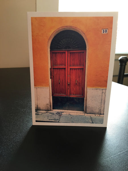 Doors of Italy Series; Blank Notecards pack of 5 by Still Life with Cat Studio