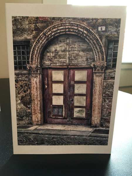Doors of Italy Series; Single Notecard (4x6)