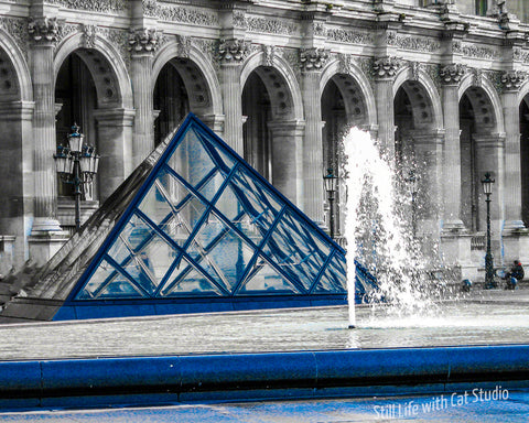 Louvre in Blue-Art Photograph