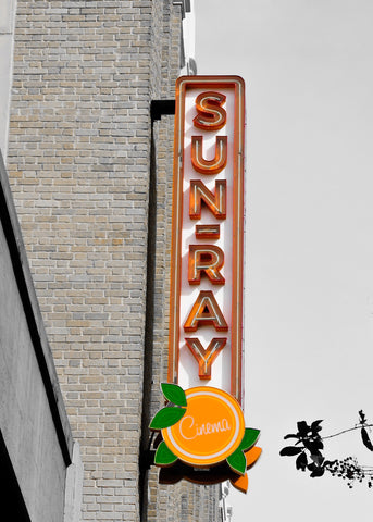 Historic SunRay Theatre Sign