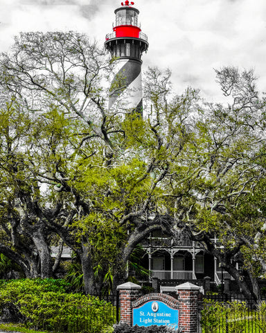"Historic St Augustine, FL-  Lighthouse ""Pop"""