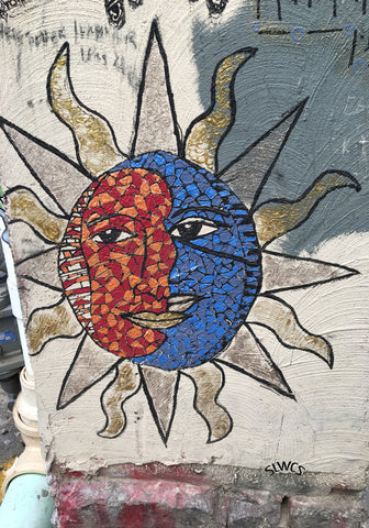 Sun Faces Graffiti- Art Photo