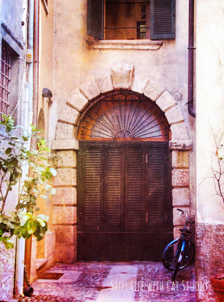 Door with Bicycle-  Italy