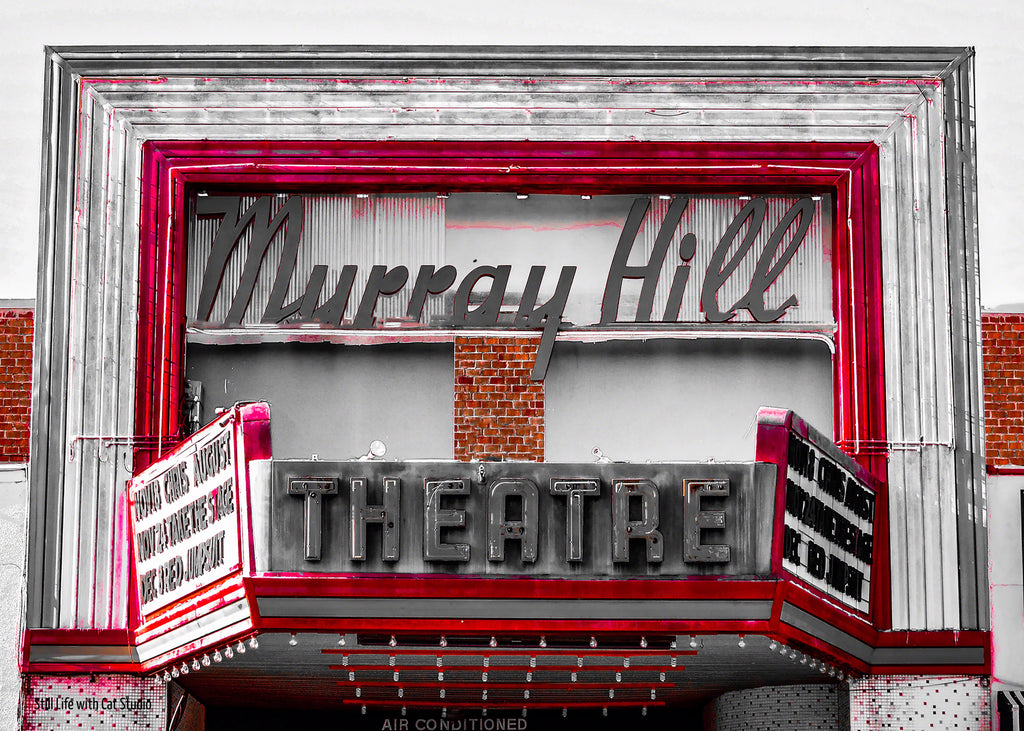Historic Murray Hill Theatre Sign