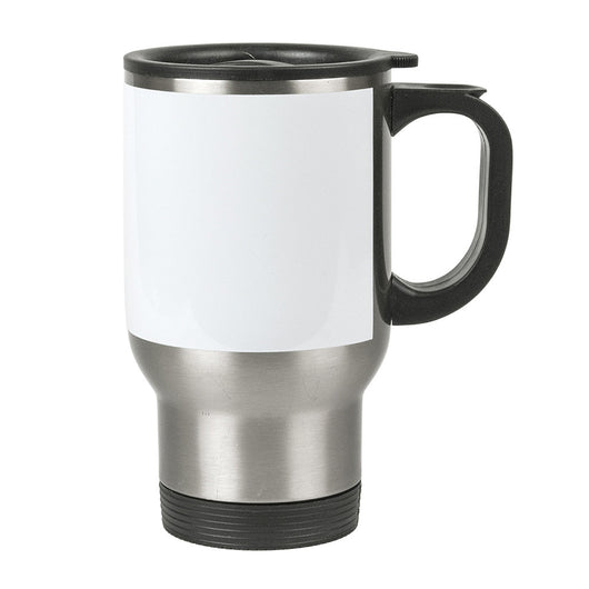 MUG 14oz - Stainless Steel Travel with White Patch - (24/case)