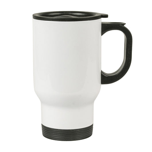 MUG 14oz - Stainless Steel Travel all White - (24/case)