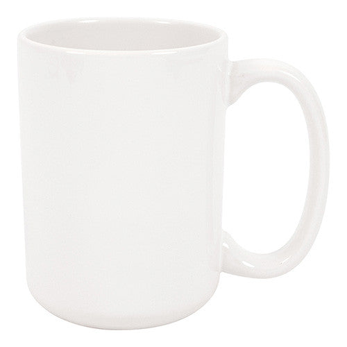 MUG 15oz - Ceramic White - (36/case) - Transfer It Company