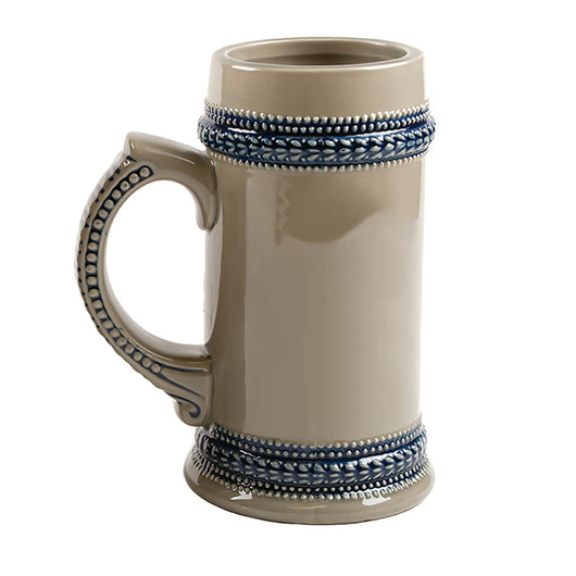STEIN 22oz - Blue Trim Ceramic - (18/case)