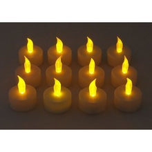 Set of 12 Battery Operated Realistic Flickering Flame Tealight Candles Flameless / Smokeless