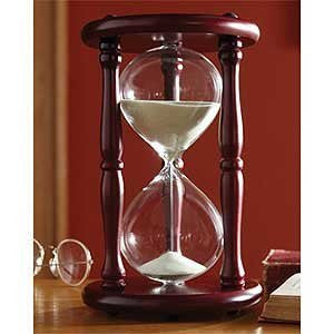 Hourglass Timer Cherry Wood Sand Clock