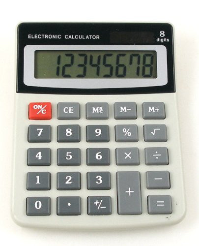 8 Digits Desktop Calculator, Solar Powered.