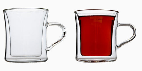 Double Wall Insulated Drinking Glasses For Tea, Glass Coffee Mugs, 10 Ounce, Set of 2