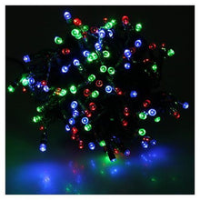 Solar Powered 35-Foot 100 Multi Color LED Holiday String Lights