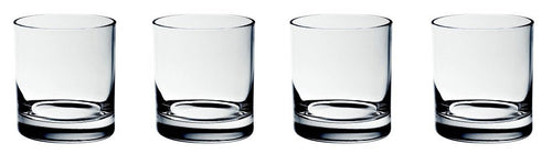 Double Old Fashioned (DOF) Crystal Glasses. Whiskey Glasses. Set of 4